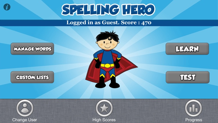 Spelling Hero - custom lists and tests
