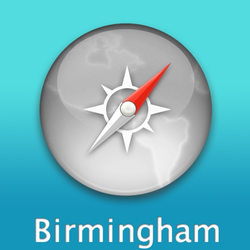 Birmingham Travel Map (England)