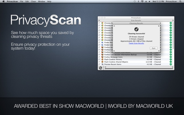 PrivacyScan Screenshot