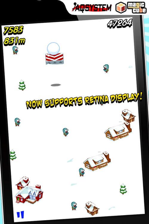 Squish The Zombies - Fun Time Killer Game with snowball screenshot-1