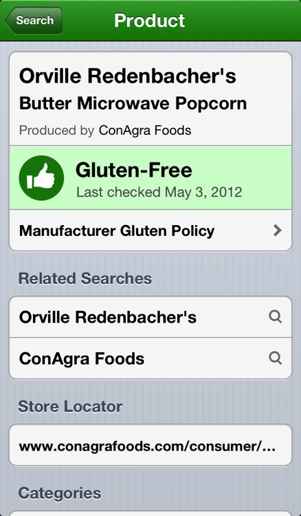 GF Overflow - Gluten Free Product Search