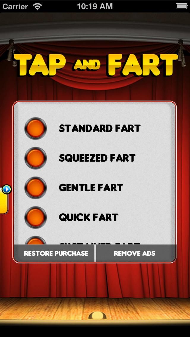 Tap & Fart - Fart noise & prank soundboard machine Screenshot
