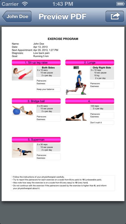 Physio2Go screenshot-1