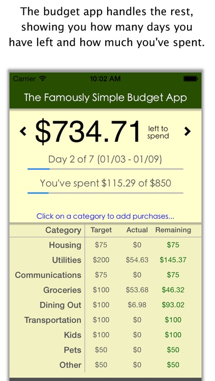 Famously Simple Budget App screenshot-3