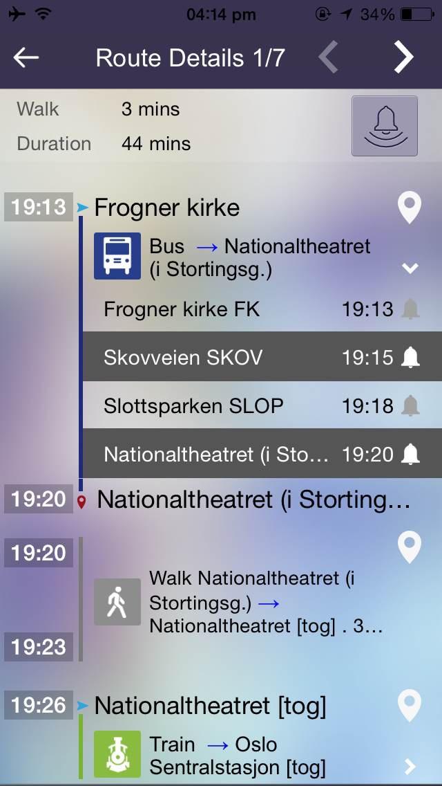 Ontimely Oslo Norway Ruterreise Reiseplanlegger Ruter No