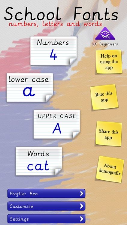 School Fonts - Learn to write (UK) Free by demografix pty ltd