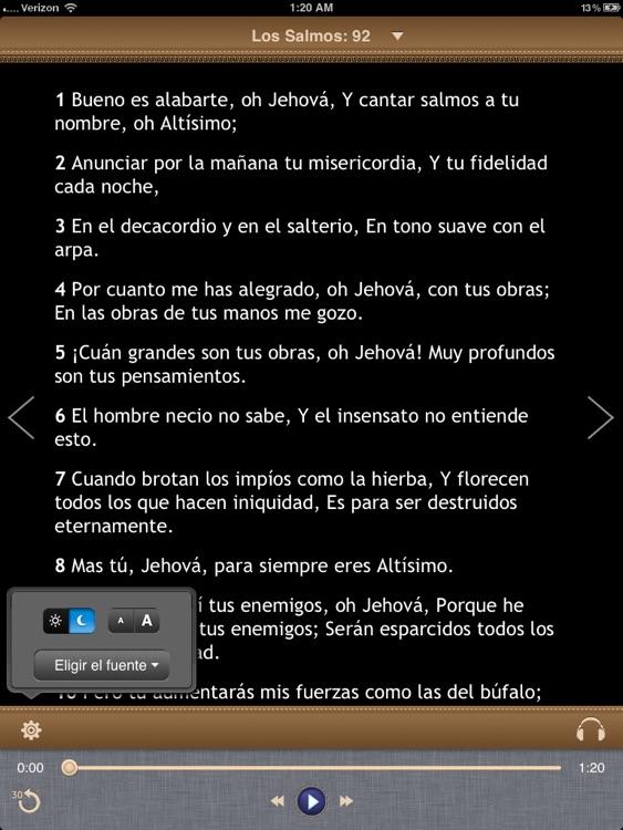 La Biblia Reina Valera para iPad con Audio screenshot-3