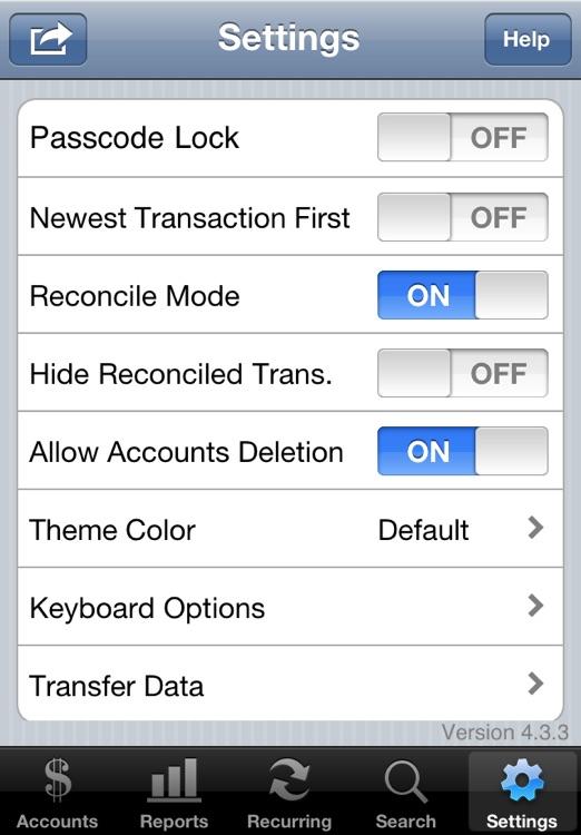 Accounts - Checkbook screenshot-4