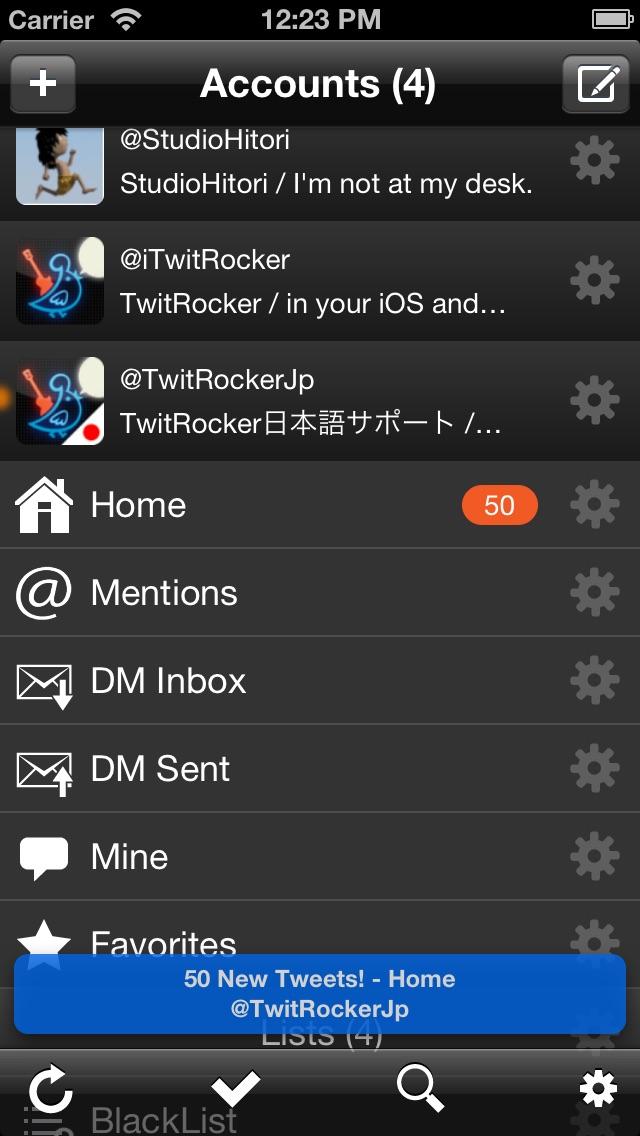 Screenshot #1 pour TwitRocker2 for iPhone - la prochaine génération de client twitter