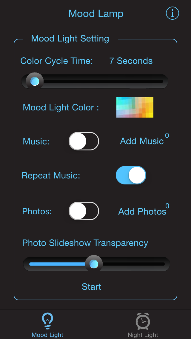 Night Light LITE - Mood Light with Music, NightLight with sound sensor, Time Display & Alarm Clockのおすすめ画像2