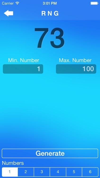 RNG Random Number Generator pro