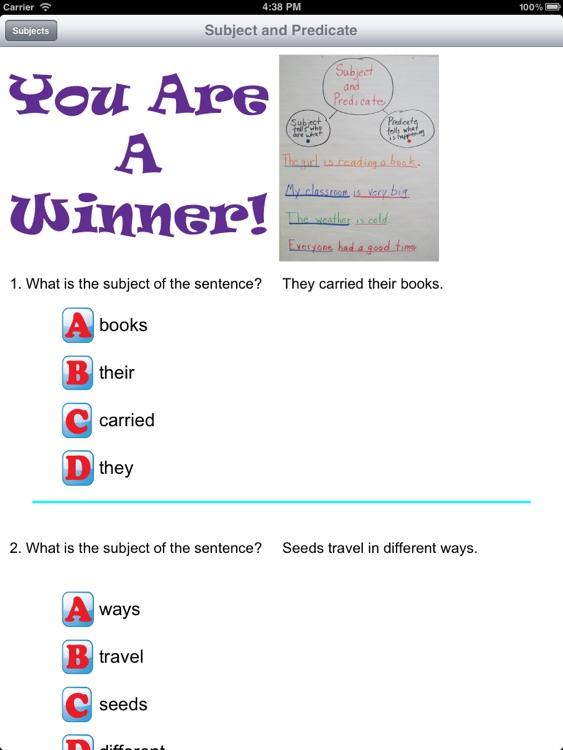 Third Grade Skills Language Arts screenshot-3
