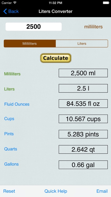 Volume & Weight Converter: Liter, Gallon, Ounces (US Units and Imperial), Cubic Feet, Yards, & Meters screenshot-4