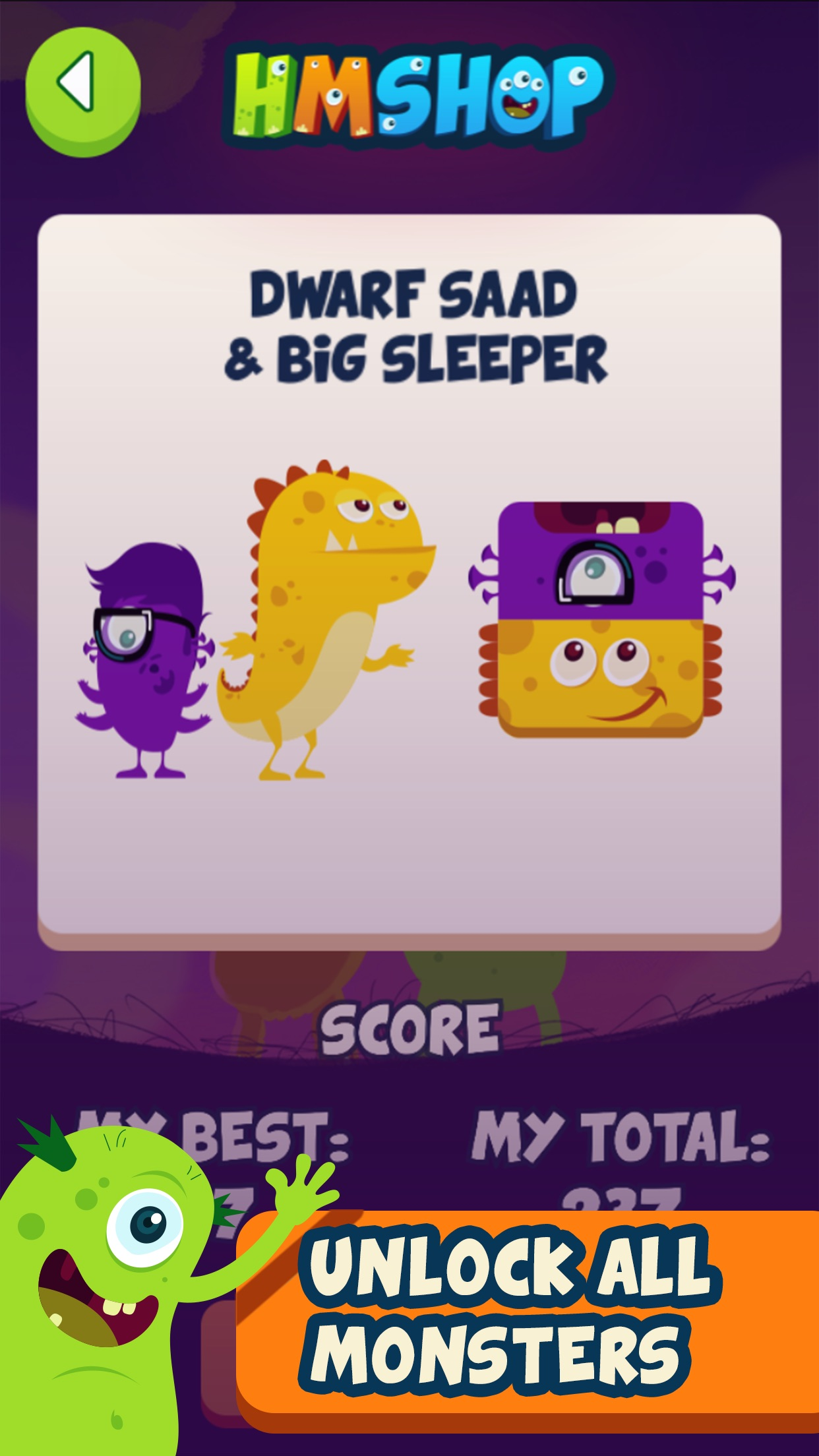 Screenshot do app The Hungry Monsters