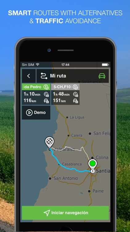 NLife Chile Premium - Offline GPS Navigation & Maps screenshot-4