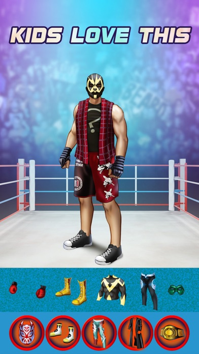 My World Champion Crazy Power Wrestlers Dress Up Club Game - Free App screenshot one