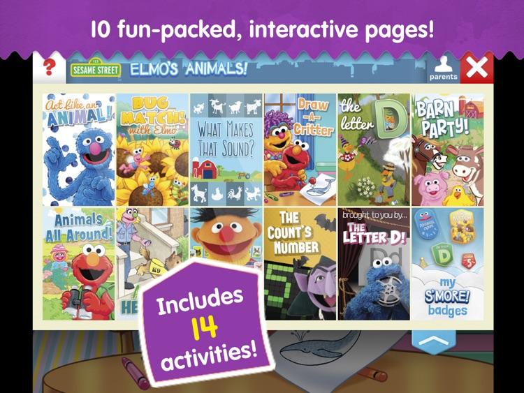 Elmo's Animals: A Sesame Street S'More App