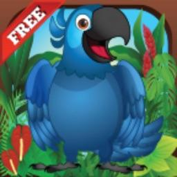 Papi Rico Bird: Blue Parrot Sling-shot Adventure in Rio de Janeiro