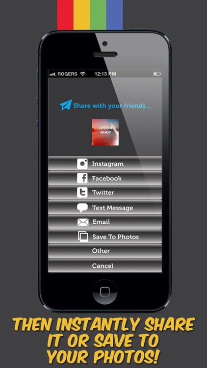 InstaWords Pro - Add Text Over Your Photos or Make Them Into Beautiful Pictures screenshot-4
