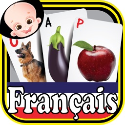 Preschooler Kids French ABC Alphabets & Numbers Flash Cards