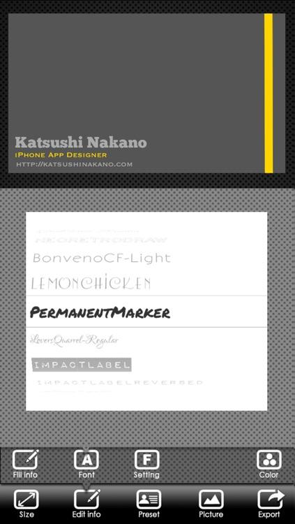 BusinessCardDesigner - Business Card Maker with AirPrint screenshot-3