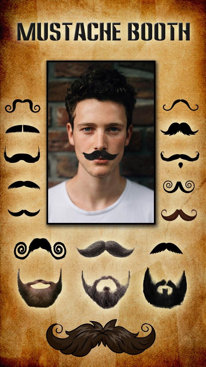 Mustache Booth FREE - Grow & Morph a Hilarious Beard Sticker on Yr Face Screenshot