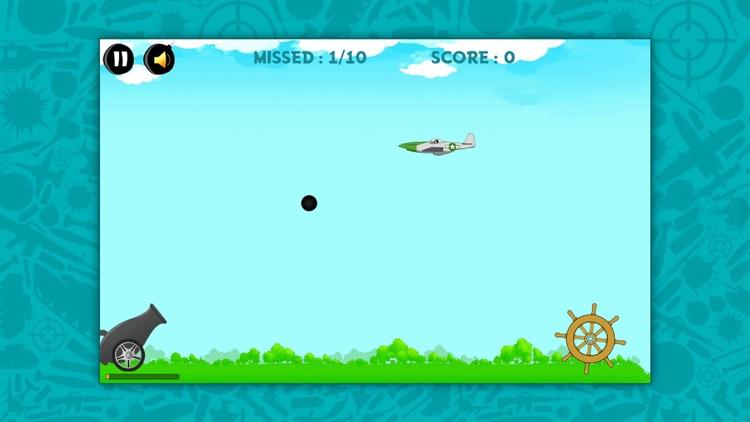 Cannon war HD:  Shoot the planes screenshot-3