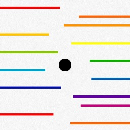 Black Dot Colorful Lines