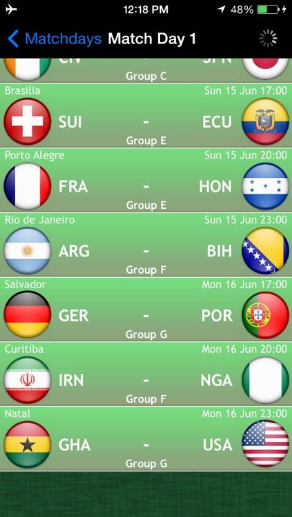 World Football Calendar 2014:  the free fan app for Brazil screenshot-3