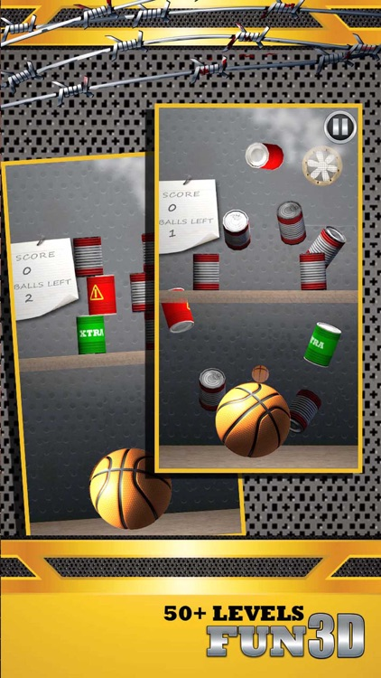 Shoot Hoops Basketball Toss Game 3D - Real Knockdown Cans Flick Game screenshot-3