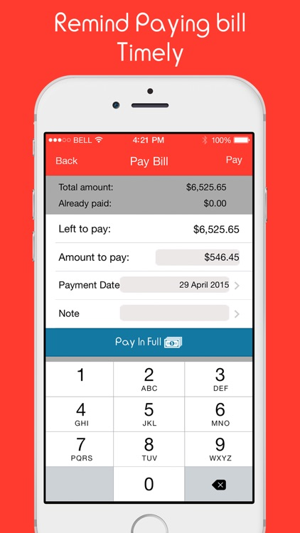 Remind My Bills - Easy Bill Manager, Account Monitor & Budget Expense Reminder