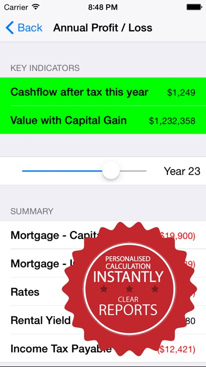 OZIPCAL Investment Property Calculator screenshot-3