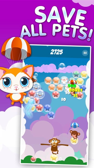 Pets Pop - Bubbles Popping Shooter screenshot two