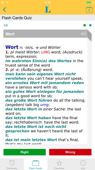 German <-> English Talking Dictionary Professional Screenshot on iOS