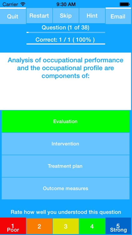 Occupational Therapy - NBCOT Study Quiz Exam 2016