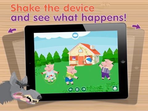 Kids Academy • The Three Little Pigs -  Interactive bedtime story book with fun puzzle games and learning activities. Best educational app for Baby, Toddlers and Preschool children. screenshot
