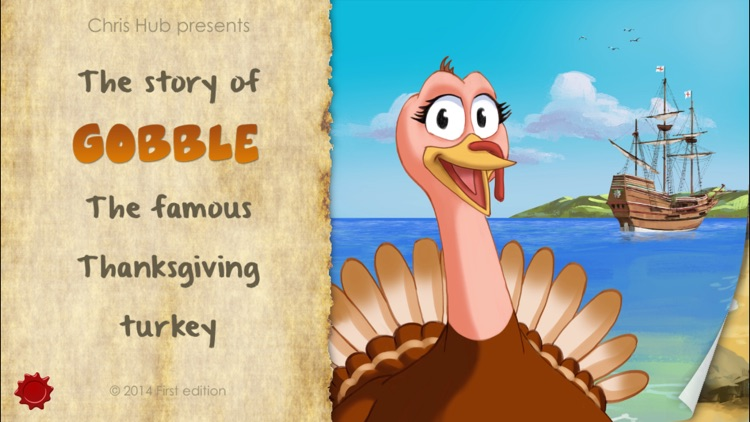 Thanksgiving Tale & Games - Gobble The Famous Turkey - eBook #1 - Lite version screenshot-0
