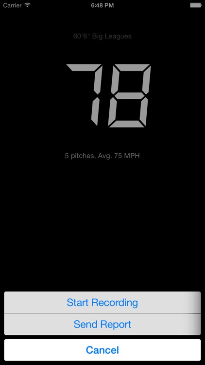 Pitch Radar 2 - Baseball radar gun with reports screenshot-3
