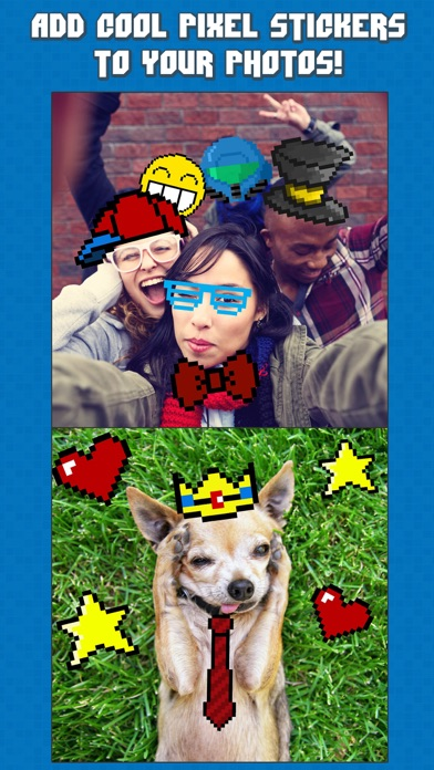 InstaPixel - A Funny Retro Photo Booth Editor with 8 Bit Stickers for your Pictures - 窓用