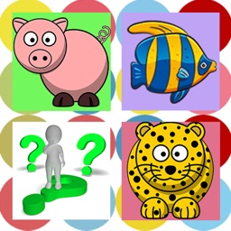 Easy Animal Puzzle Cards Match and Matching Games Free for Toddler or Kids