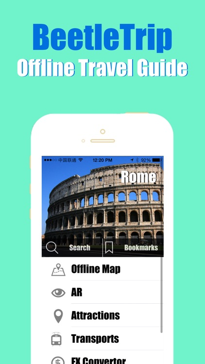 Rome travel guide and offline city map, Beetletrip Augmented Reality Rome Metro Train and Walks screenshot-0