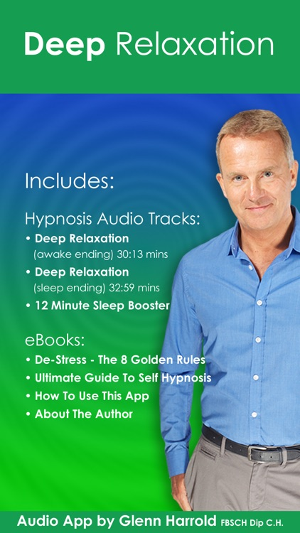 Deep Relaxation Hypnosis AudioApp-Glenn Harrold screenshot-0