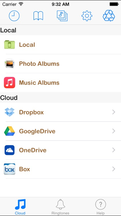 Box MP3 - Music Manager & Ringtone.s Maker from Cloud Drives