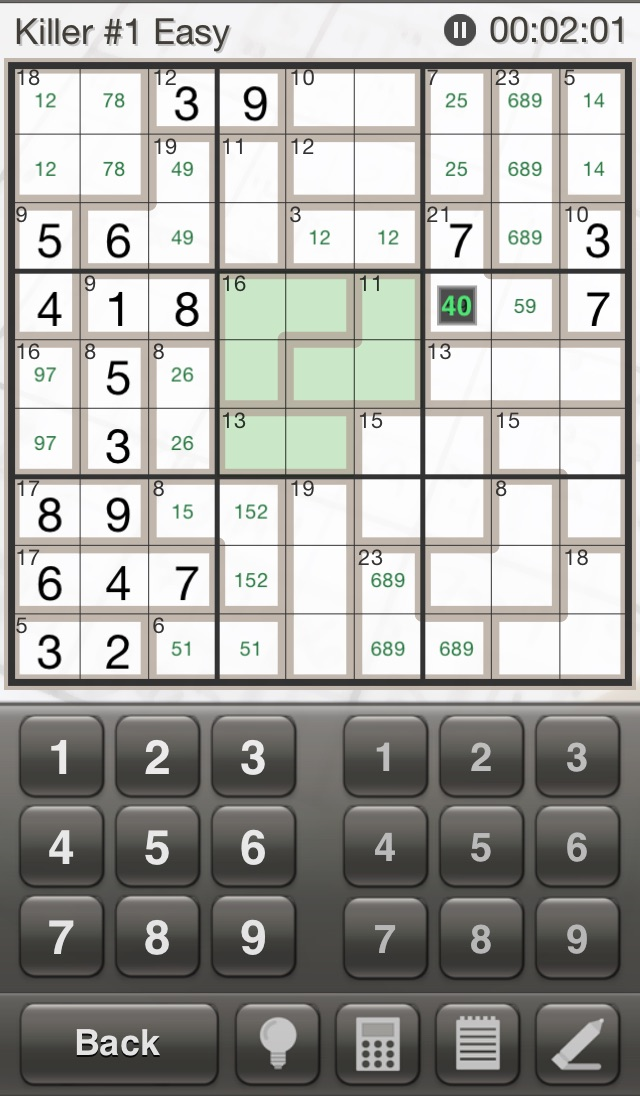 Sudoku Killer: Killer Sudoku Puzzles for Your iPhone and iPad Screenshot