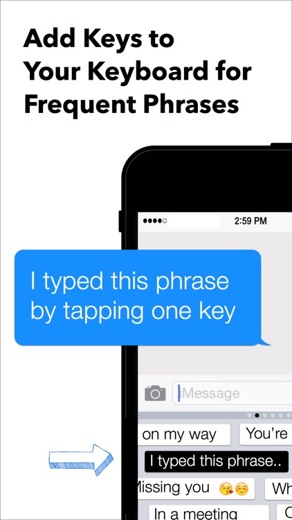 My Phrases Keyboard - for iOS 8 screenshot-0