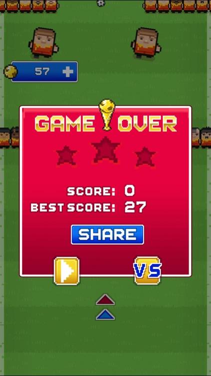 Big football superstar (Impossible Challenge Blocky Racing Pixel Soccer Games) screenshot-4