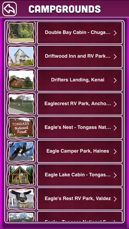 Alaska Campgrounds & RV Parks Ofline Guide screenshot-2