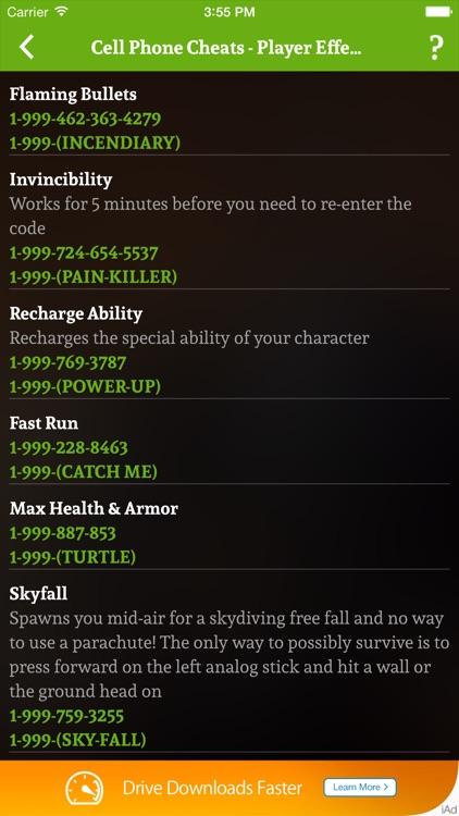 Cheats for GTA 5 - Unofficial GTA Cheater screenshot-4