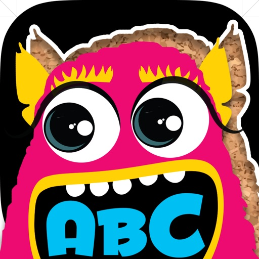 My first alphabet and letters monster puzzle Jigsaw Game for toddlers and preschoolers icon
