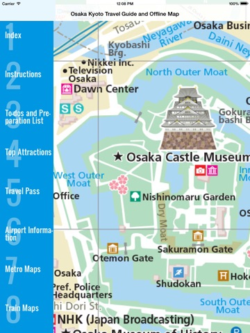 Osaka and Kyoto travel guide and offline map metro subway travel